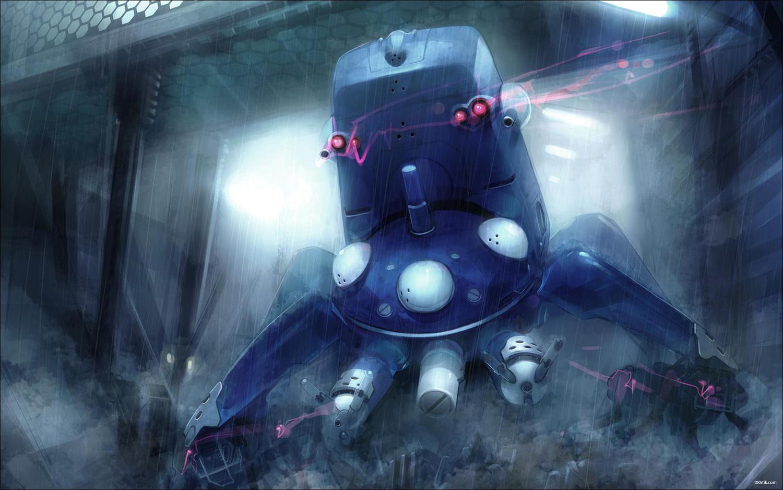 source : http://konachan.com/post/show/135367/ghost_in_the_shell-jpeg_artifacts-rain-tachikoma-w